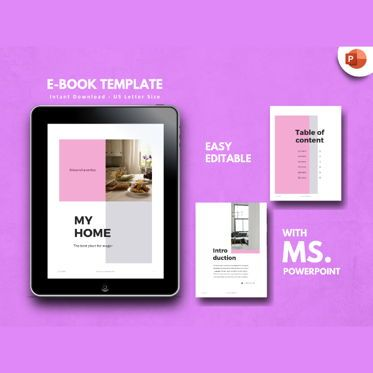 Presentation Templates: Furniture eBook PowerPoint Presentation Template #04494