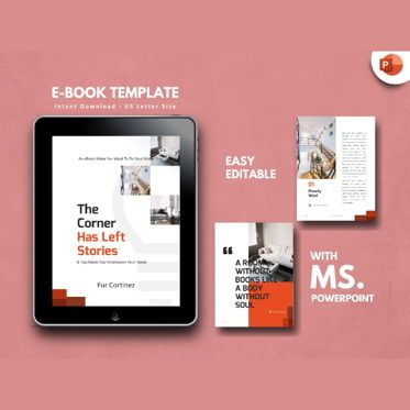 Presentation Templates: Interior eBook PowerPoint Presentation Template #04495