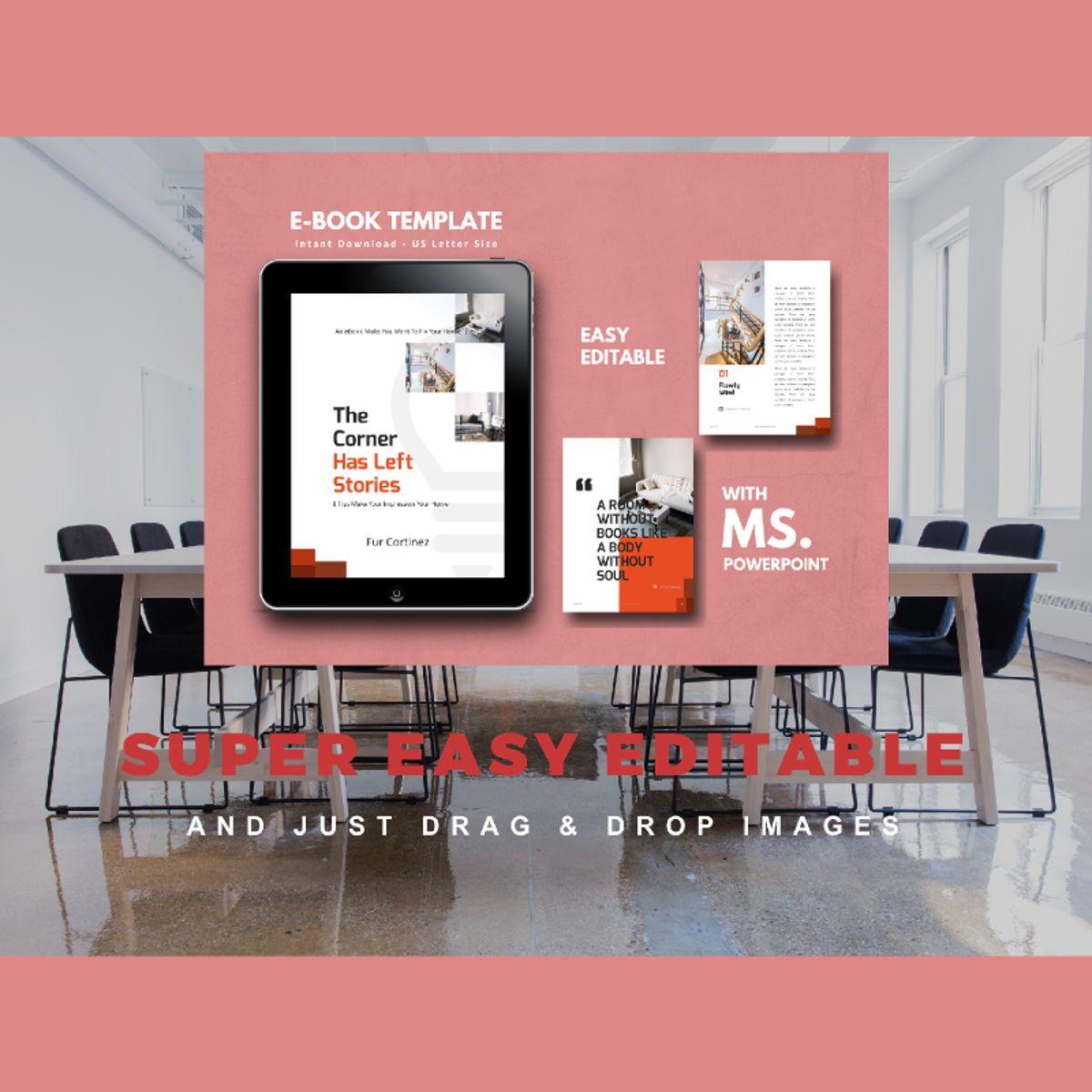 Interior eBook PowerPoint Presentation Template, Slide 10, 04495, Presentation Templates — PoweredTemplate.com