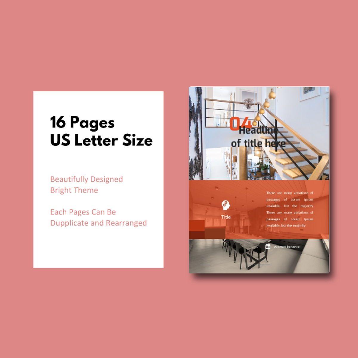 Interior eBook PowerPoint Presentation Template, Slide 5, 04495, Presentation Templates — PoweredTemplate.com
