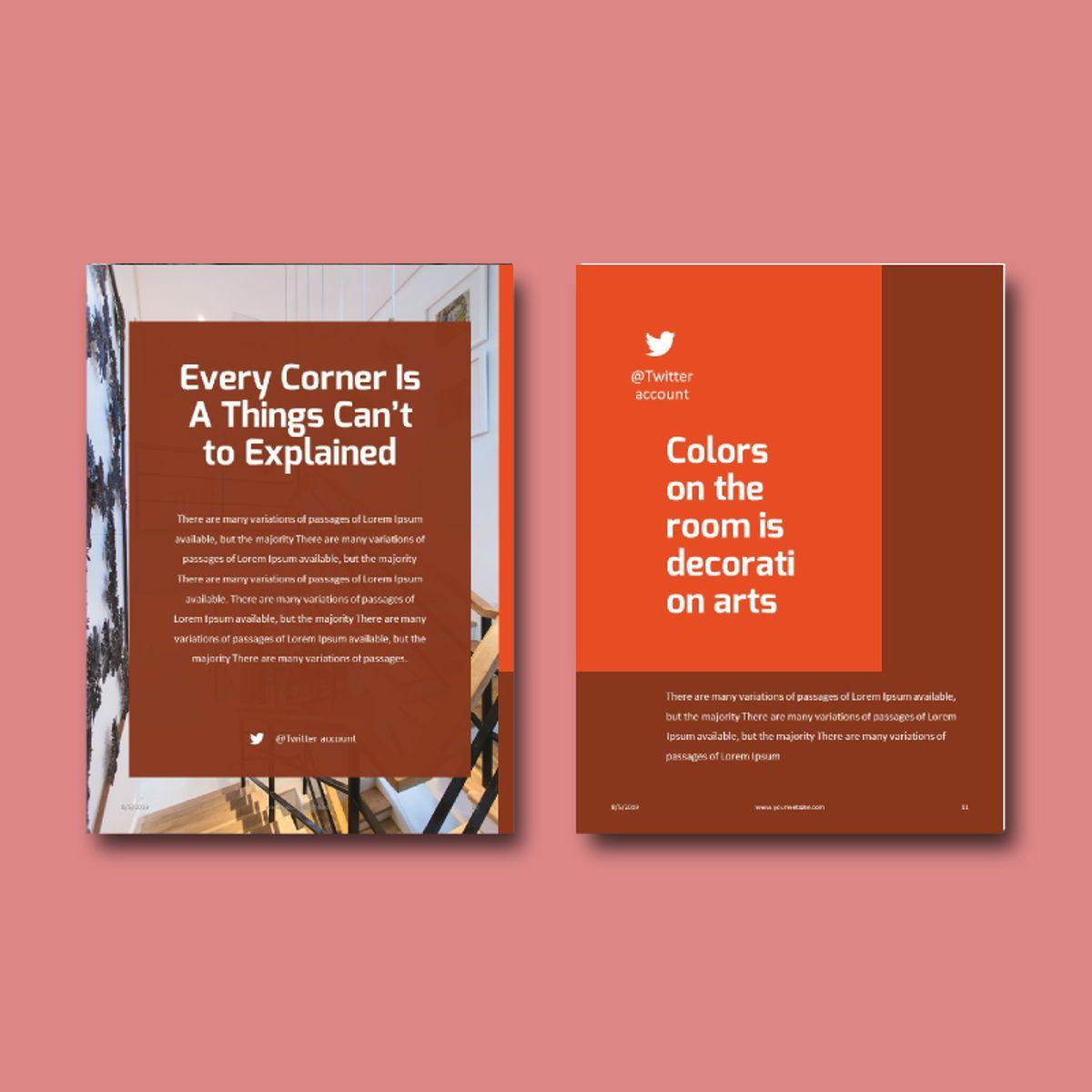 Interior eBook PowerPoint Presentation Template, Slide 7, 04495, Presentation Templates — PoweredTemplate.com