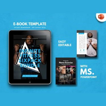 Presentation Templates: Fitness Bold Men eBook PowerPoint Presentation Template #04496