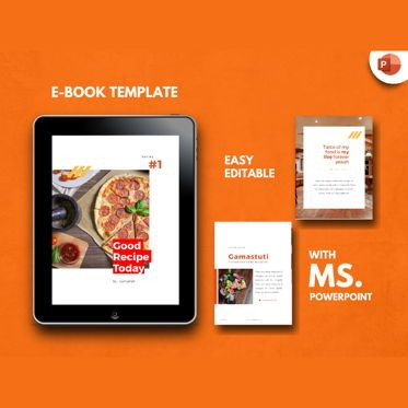 Presentation Templates: Recipe eBook PowerPoint Presentation Template #04498