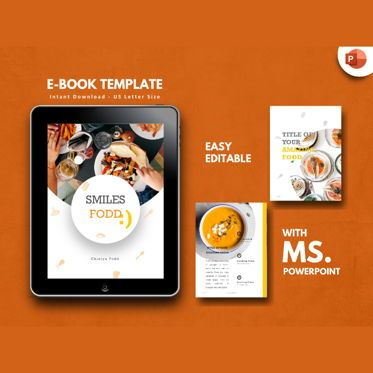 Presentation Templates: Recipes Food eBook PowerPoint Presentation Template #04499