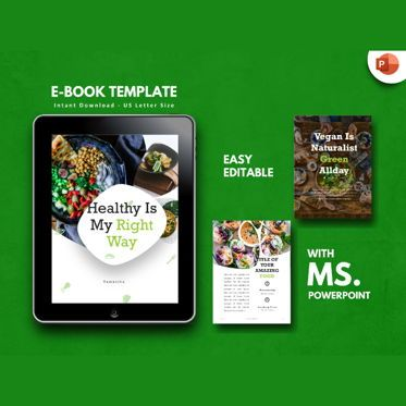 Presentation Templates: Vegan Recipe eBook PowerPoint Presentation Template #04500