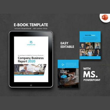 Business Models: Business Report Company eBook PowerPoint Presentation Template #04501