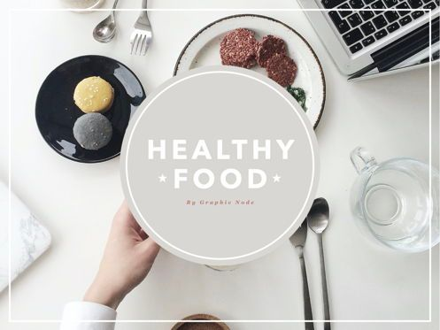 Presentation Templates: Healthy Diet Keynote Presentation Template #04506