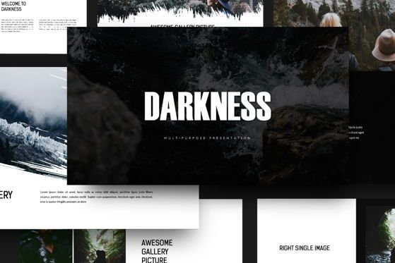 Presentation Templates: Darkness - PowerPoint Template #04518