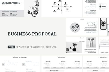 Business Models: Business Proposal PowerPoint Template #04519