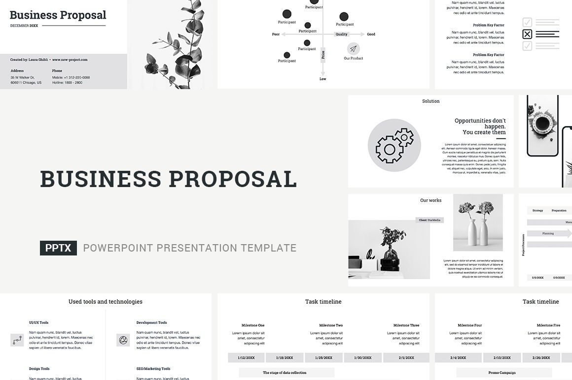 Business Proposal PowerPoint Template, 04519, Business Models — PoweredTemplate.com