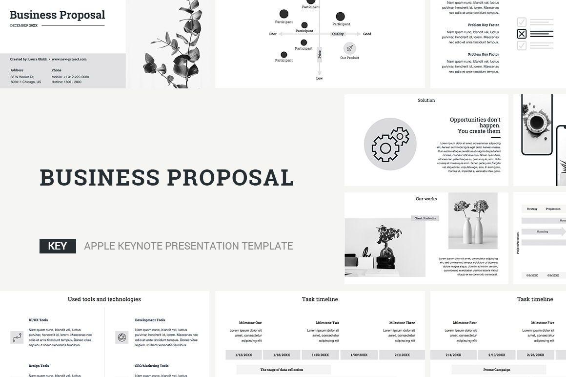 Business Proposal Keynote Template, 04520, Business Models — PoweredTemplate.com