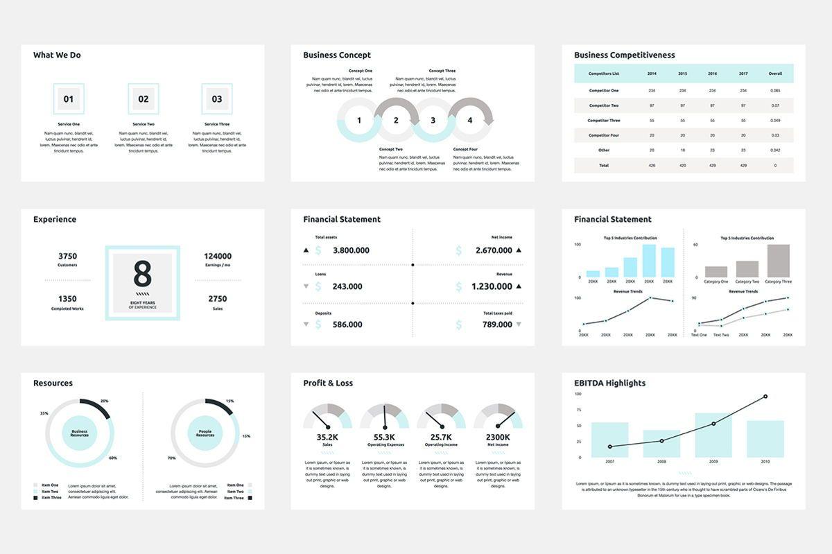 2020 Year Report PowerPoint Presentation Template, Slide 3, 04521, Infographics — PoweredTemplate.com