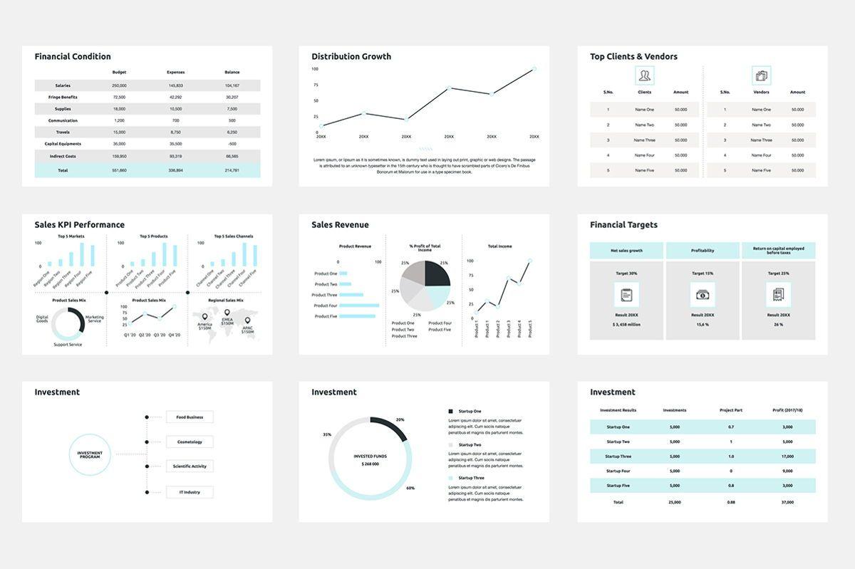 2020 Year Report PowerPoint Presentation Template, Slide 4, 04521, Infographics — PoweredTemplate.com