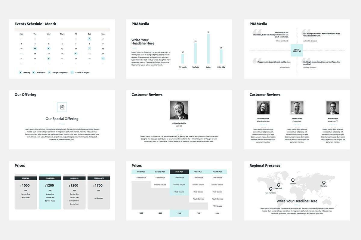 2020 Year Report PowerPoint Presentation Template, Slide 7, 04521, Infographics — PoweredTemplate.com