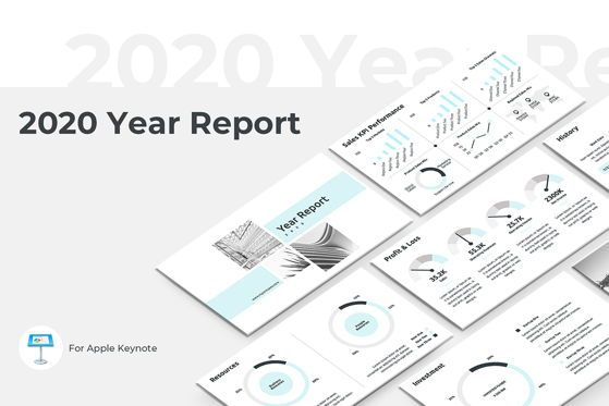 Presentation Templates: 2020 Year Report Keynote Presentation Template #04522