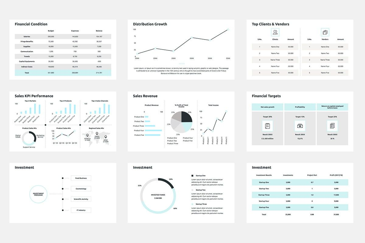 2020 Year Report Keynote Presentation Template, Slide 4, 04522, Presentation Templates — PoweredTemplate.com