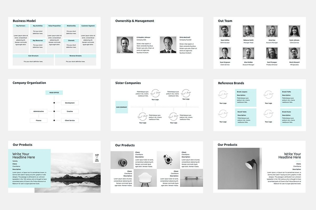 2020 Year Report Keynote Presentation Template, Slide 5, 04522, Presentation Templates — PoweredTemplate.com