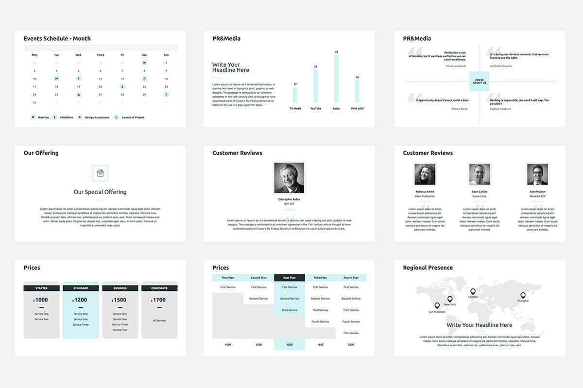 2020 Year Report Keynote Presentation Template, Slide 7, 04522, Presentation Templates — PoweredTemplate.com
