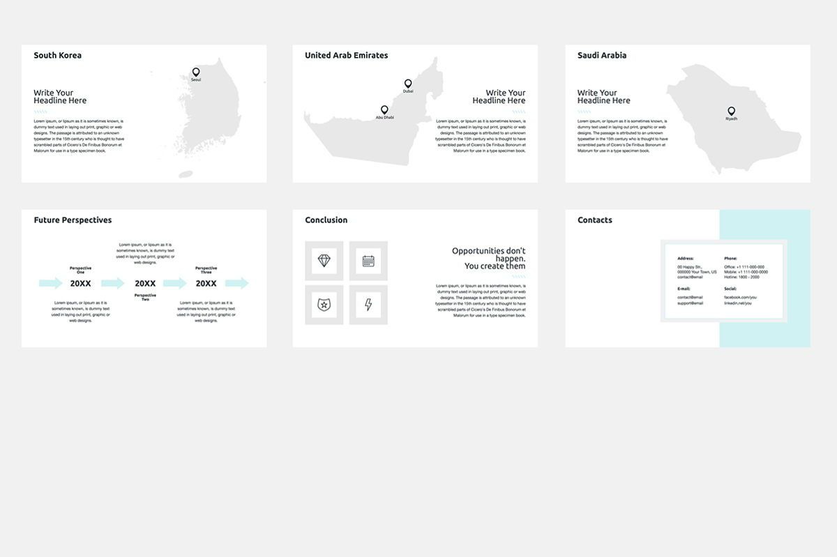 2020 Year Report Keynote Presentation Template, Slide 9, 04522, Presentation Templates — PoweredTemplate.com