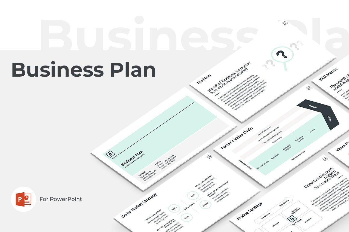 Business Plan PowerPoint Presentation Template, 04523, Business Models — PoweredTemplate.com