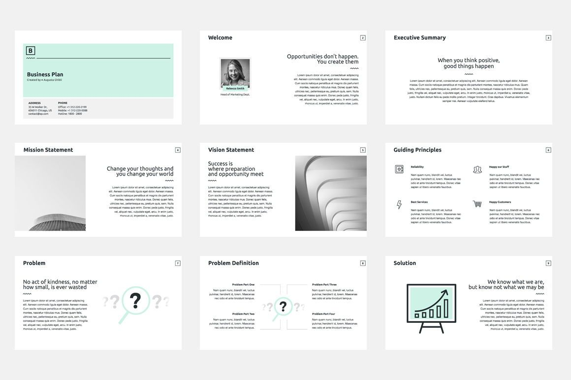 Business Plan PowerPoint Presentation Template, Slide 2, 04523, Business Models — PoweredTemplate.com