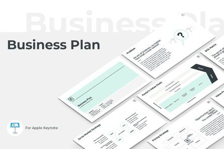 Business Models: Business Plan Keynote Presentation Template #04524