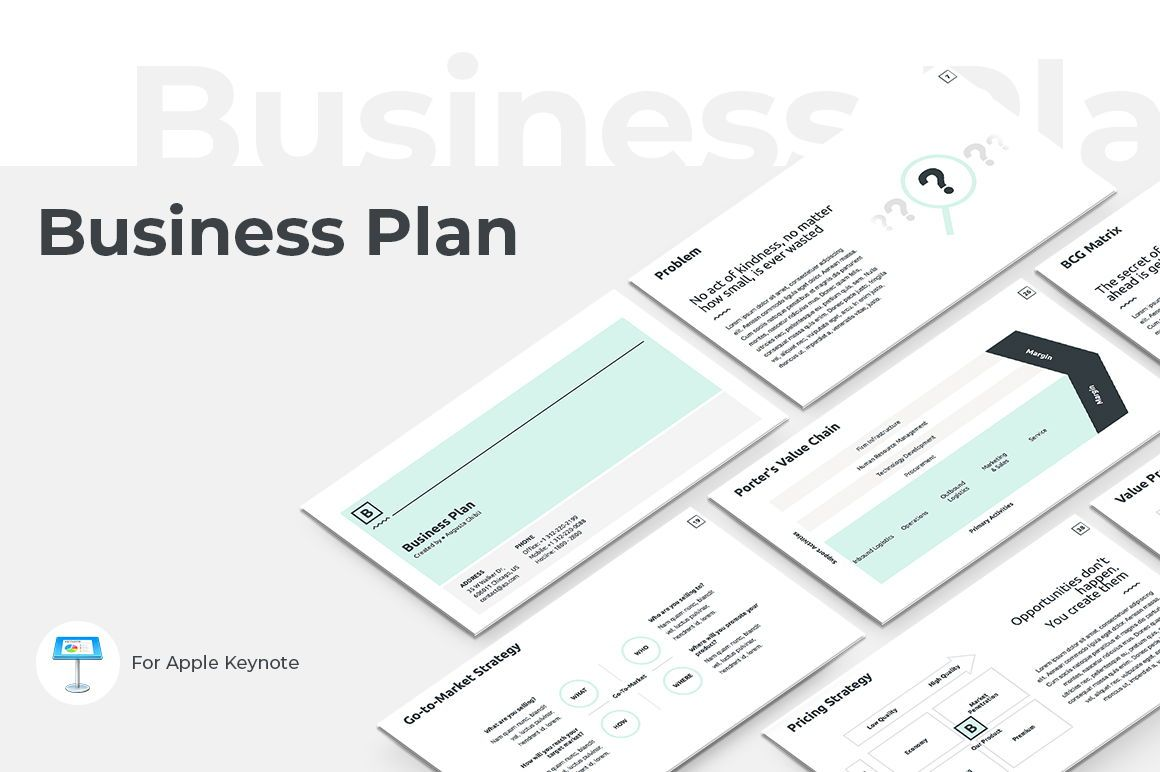 Business Plan Keynote Presentation Template, 04524, Modèles commerciaux — PoweredTemplate.com