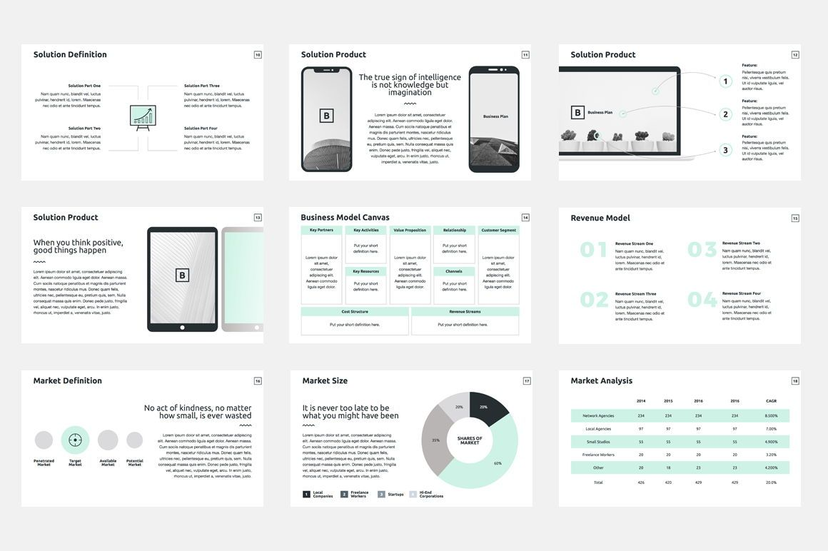 Business Plan Keynote Presentation Template, Diapositive 3, 04524, Modèles commerciaux — PoweredTemplate.com