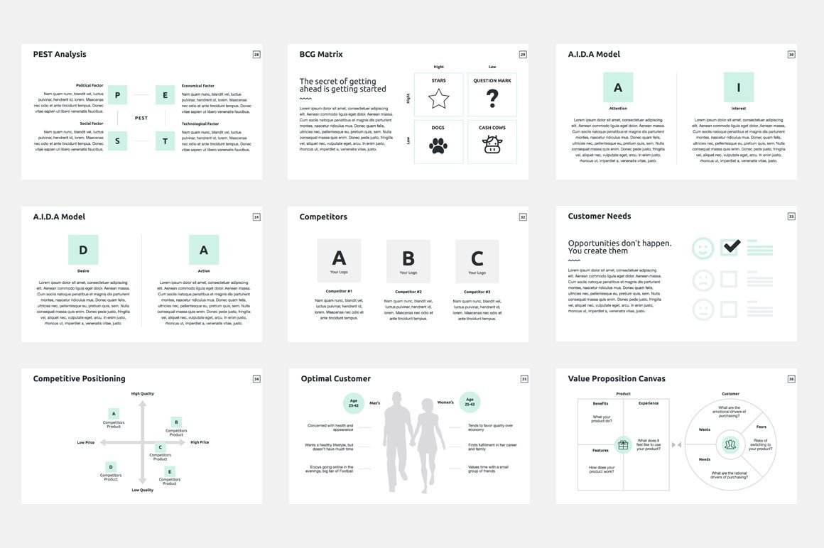 Business Plan Keynote Presentation Template, Diapositive 5, 04524, Modèles commerciaux — PoweredTemplate.com