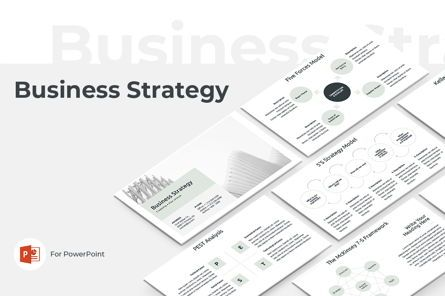 Business Models: Business Strategy PowerPoint Template #04525