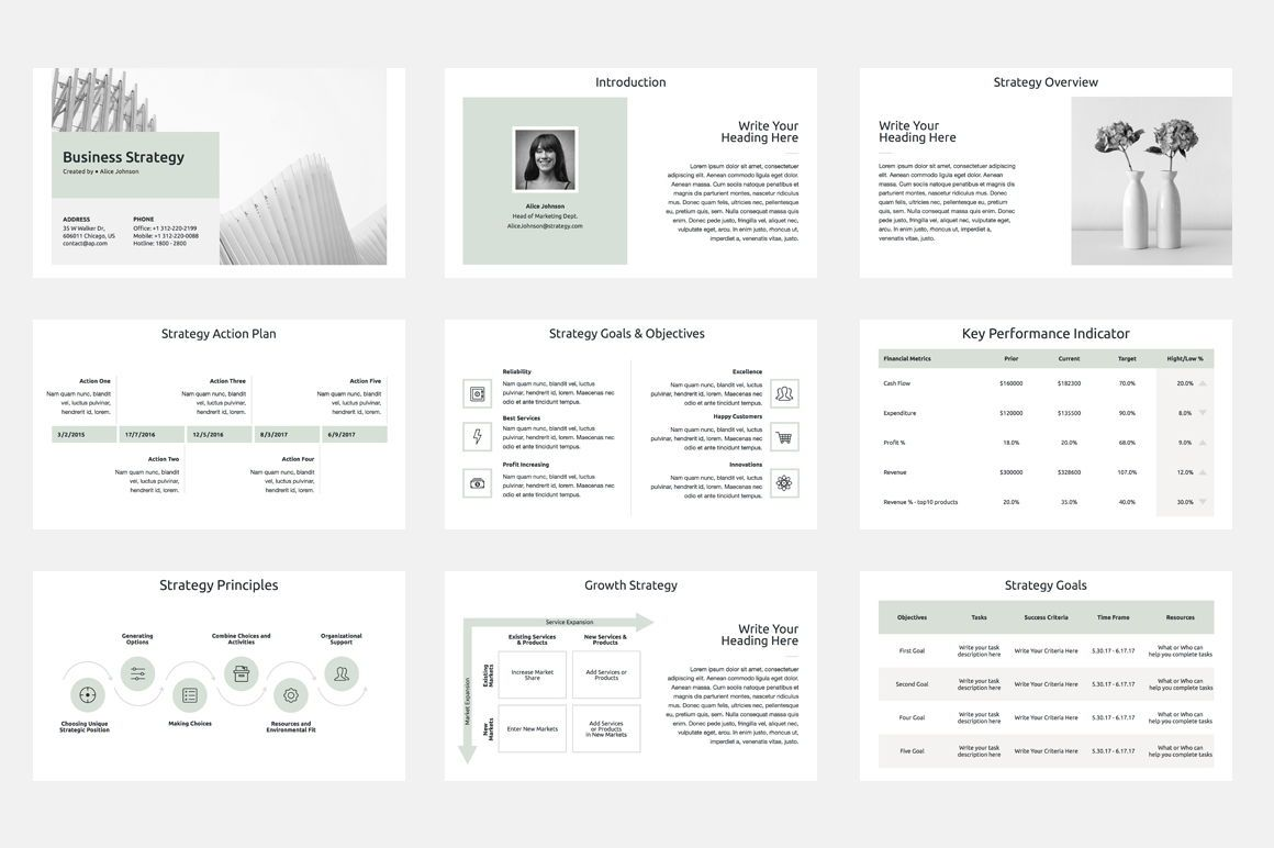 Business Strategy PowerPoint Template, 슬라이드 2, 04525, 비즈니스 모델 — PoweredTemplate.com