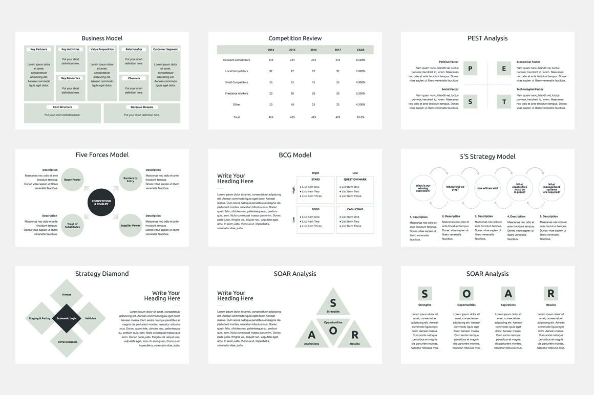 Business Strategy PowerPoint Template, 슬라이드 3, 04525, 비즈니스 모델 — PoweredTemplate.com