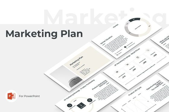 Business Models: Marketing Plan PowerPoint Presentation Template #04527