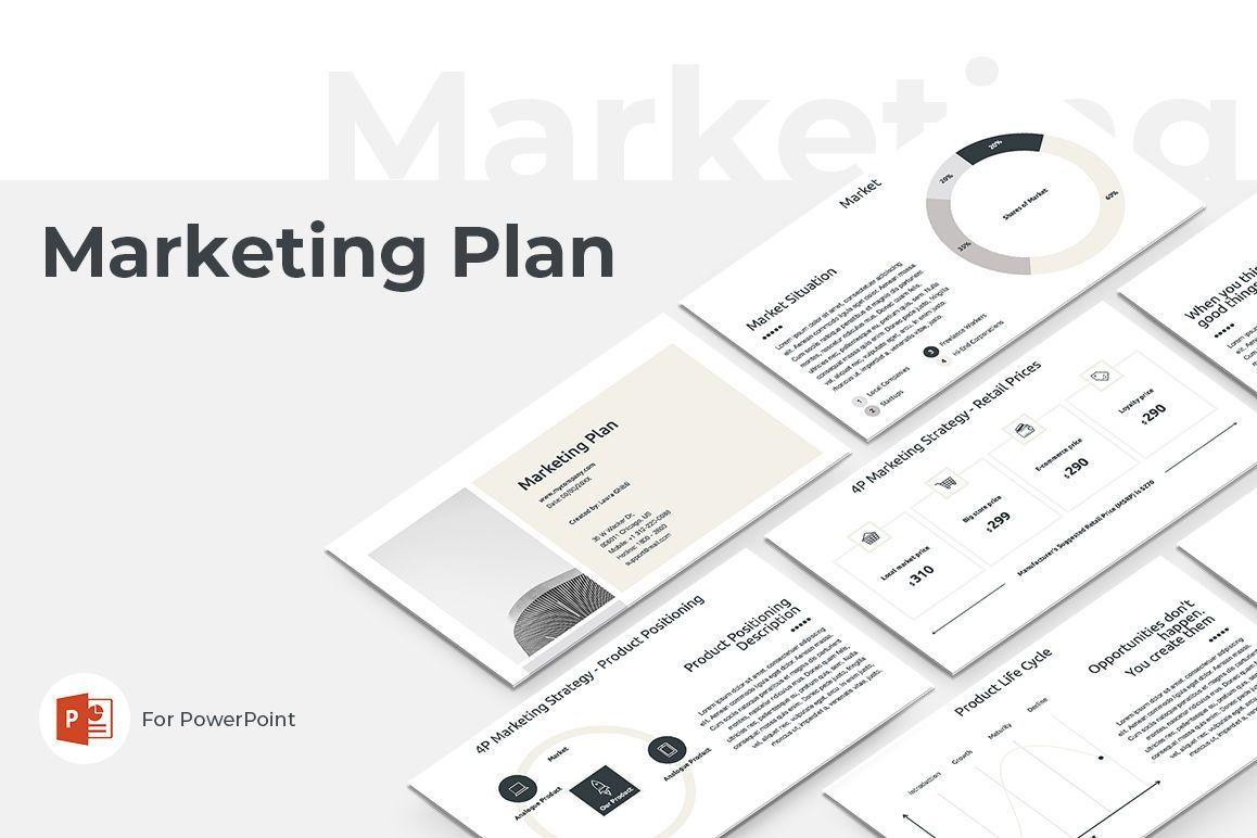 Marketing Plan PowerPoint Presentation Template, 04527, Businessmodellen — PoweredTemplate.com