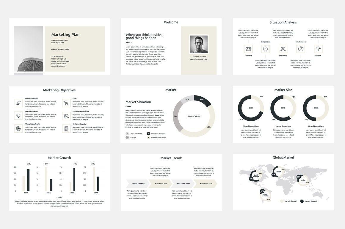 Marketing Plan PowerPoint Presentation Template, Dia 2, 04527, Businessmodellen — PoweredTemplate.com