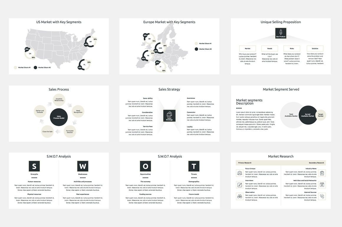 Marketing Plan PowerPoint Presentation Template, Dia 3, 04527, Businessmodellen — PoweredTemplate.com