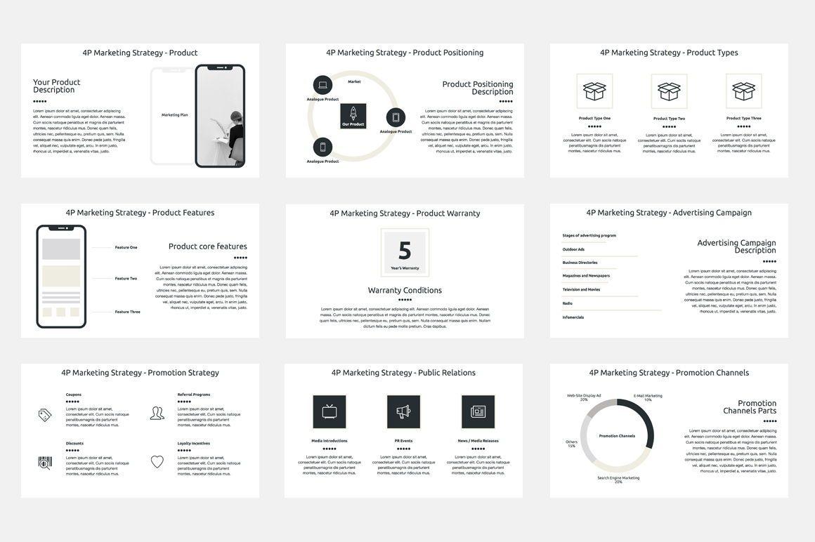 Marketing Plan PowerPoint Presentation Template, Dia 4, 04527, Businessmodellen — PoweredTemplate.com