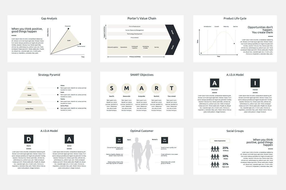 Marketing Plan PowerPoint Presentation Template, Dia 6, 04527, Businessmodellen — PoweredTemplate.com