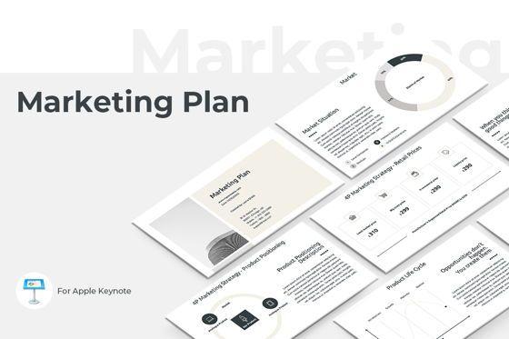 Business Models: Marketing Plan Keynote Presentation Template #04528