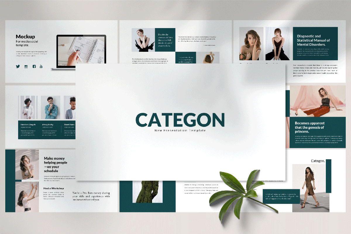 Categon - Google Slides, 04530, Presentation Templates — PoweredTemplate.com