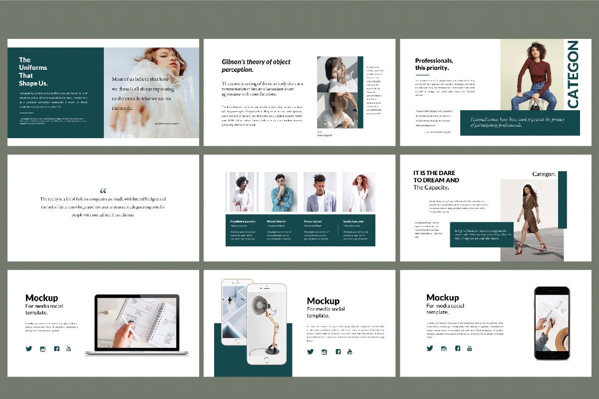 Categon - Google Slides, Slide 5, 04530, Presentation Templates — PoweredTemplate.com