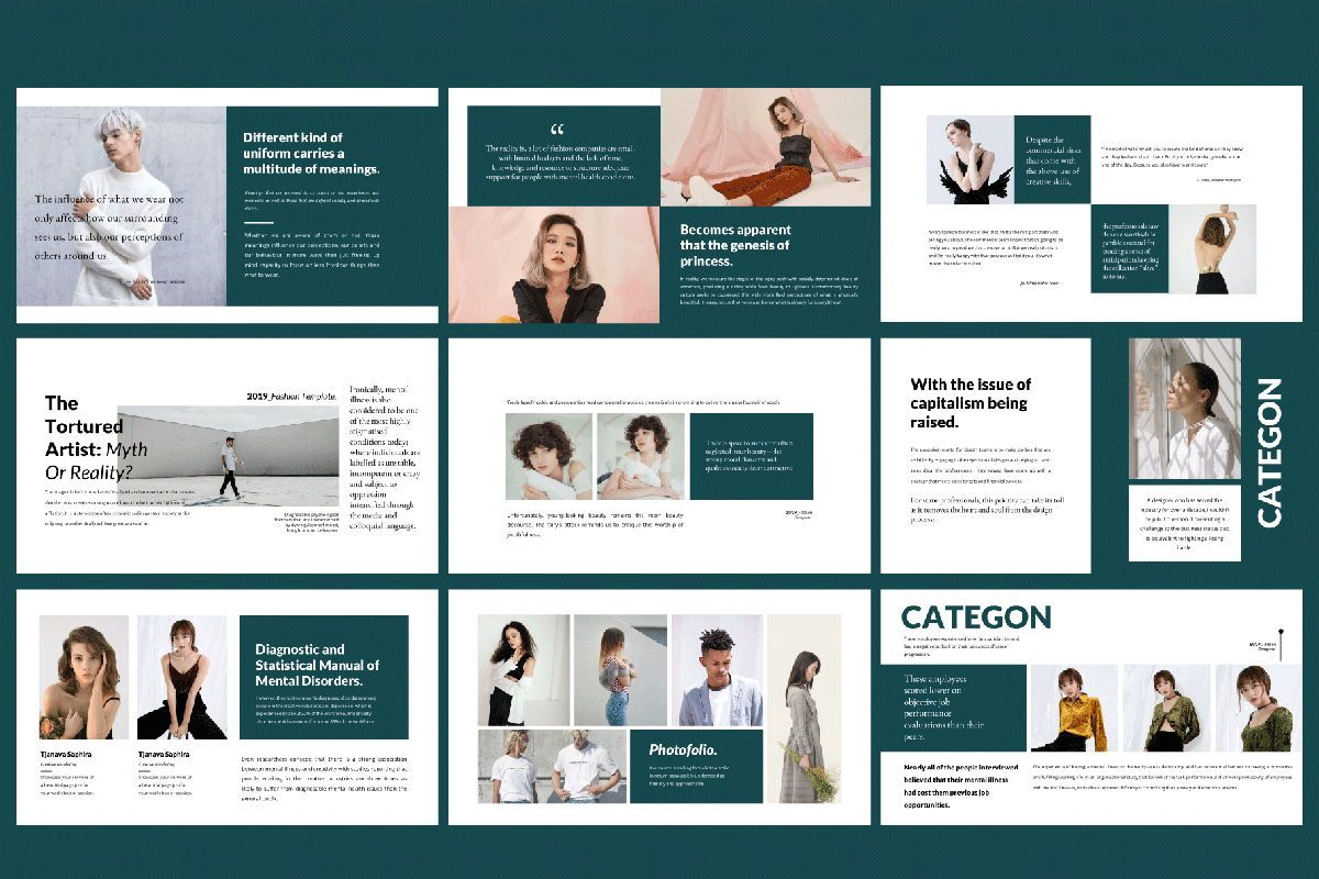 Categon - Google Slides, Slide 6, 04530, Presentation Templates — PoweredTemplate.com