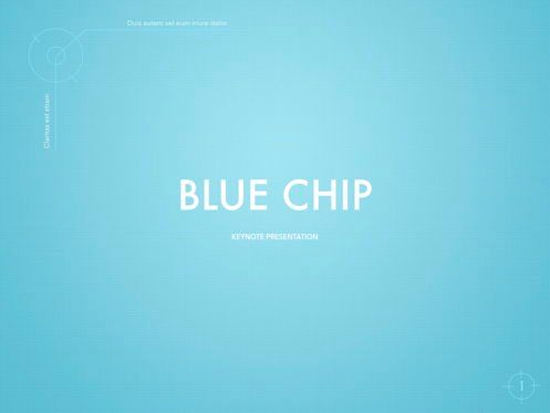 Presentation Templates: Blue Chip Keynote Presentation Template #04536