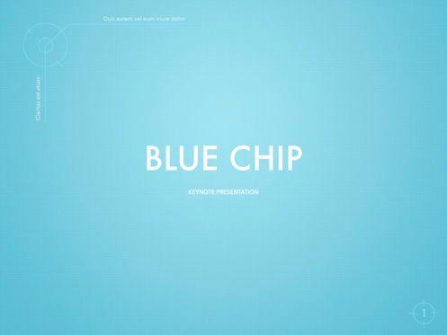 Presentation Templates: Blue Chip Keynote Presentation Template #04536