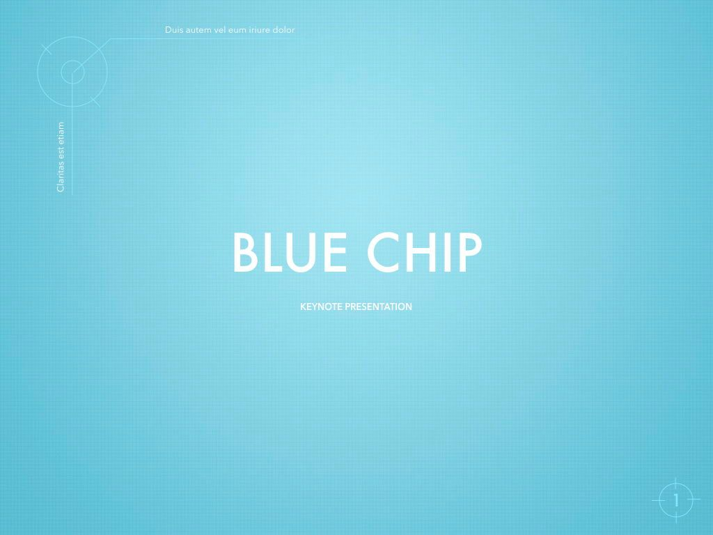 Blue Chip Keynote Presentation Template, 04536, Presentation Templates — PoweredTemplate.com