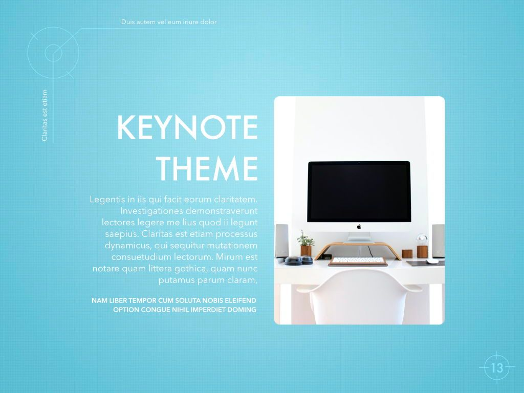Blue Chip Keynote Presentation Template, Slide 10, 04536, Presentation Templates — PoweredTemplate.com