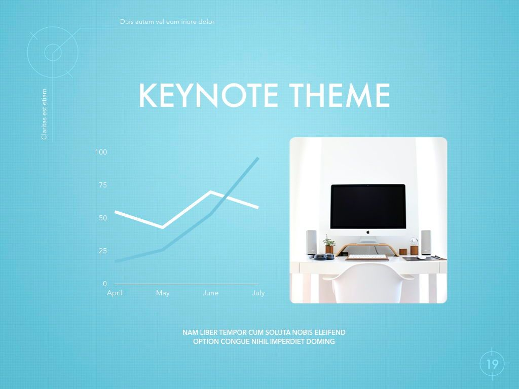 Blue Chip Keynote Presentation Template, Slide 16, 04536, Presentation Templates — PoweredTemplate.com