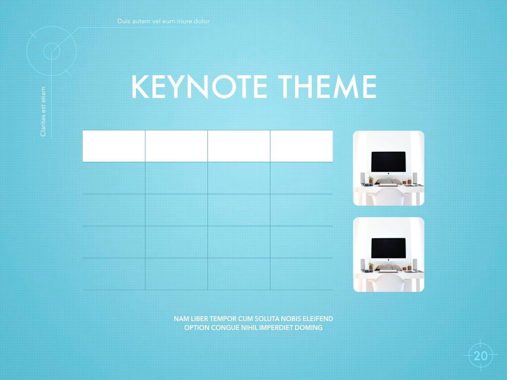Blue Chip Keynote Presentation Template, Slide 17, 04536, Presentation Templates — PoweredTemplate.com