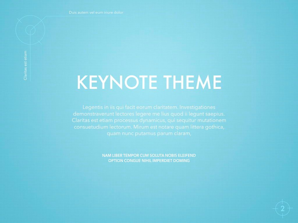 Blue Chip Keynote Presentation Template, Slide 2, 04536, Presentation Templates — PoweredTemplate.com
