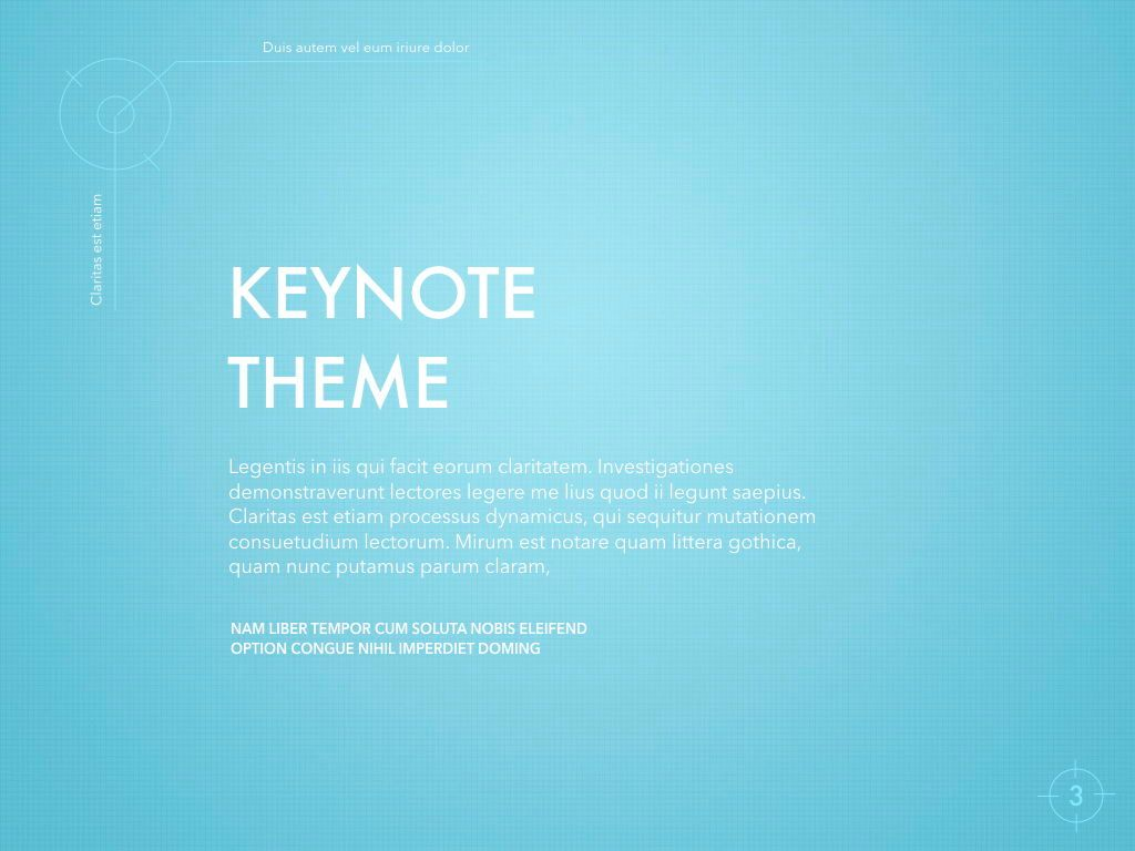 Blue Chip Keynote Presentation Template, Slide 3, 04536, Presentation Templates — PoweredTemplate.com
